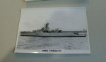 1954  HMS Torquay warship framed picture